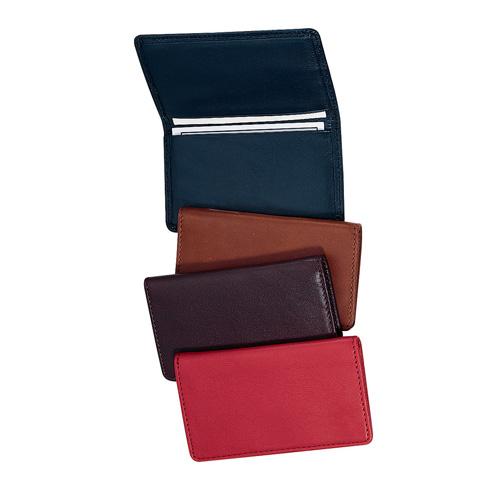 Royce Leather 401-BURG-5 Business Card Case - Burgundy