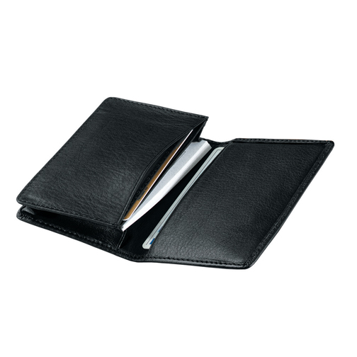Deluxe Business Card Case - Burgundy