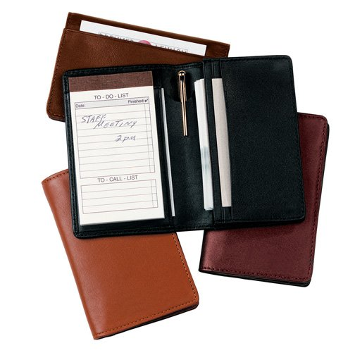 Royce Leather 725-BURGUNDY-5 Deluxe Note Jotter Organizer - Burgundy