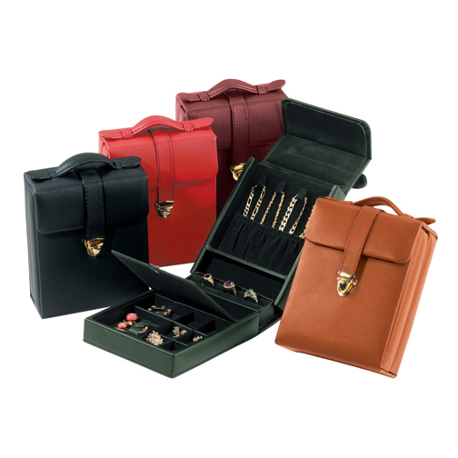 Royce Leather 924-BURGUNDY-8 Ladies  Pocketbook Jewelry Case - Burgundy at Sears.com