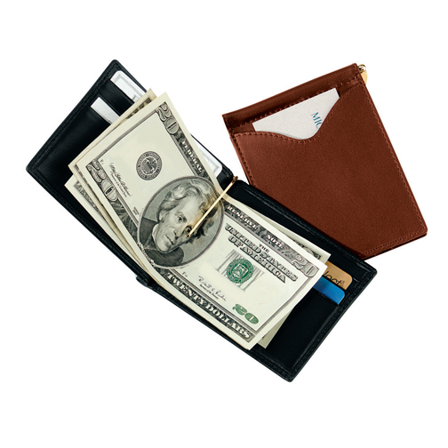 Royce Leather 108-COCO-5 Men s Cash Clip Wallet With OutsIDe Pocket - Coco