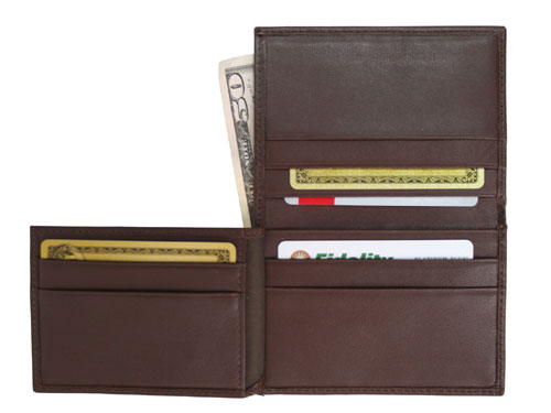 Royce Leather 112-COCO-5 Men s Flip Credit Card Wallet - Coco