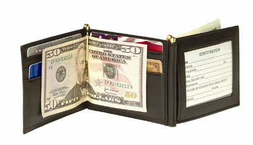 Royce Leather 113-COCO-5 Men s Double Money Clip - Coco