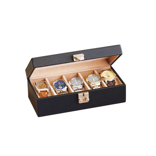 Royce Leather 929-COCO-5 Deluxe 5 Watch Box - Coco