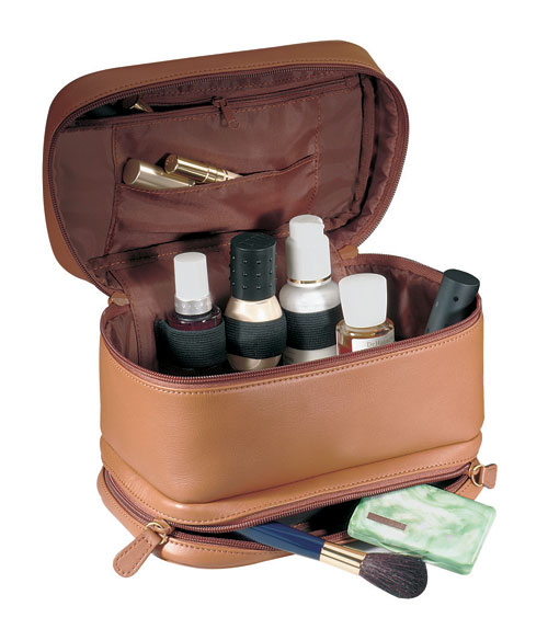 Royce Leather 265-TAN-6 Toiletry Bag - Tan