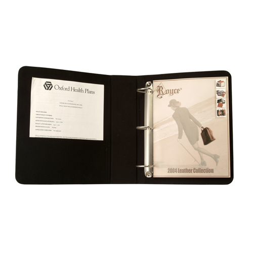 Royce Leather 300-TAN-8 2 Inch D Ring Binder - Tan