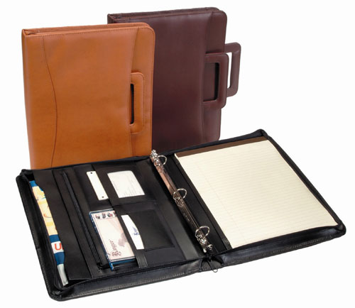 Royce Leather 301-TAN-8 Zip Around Binder Padfolio - Tan