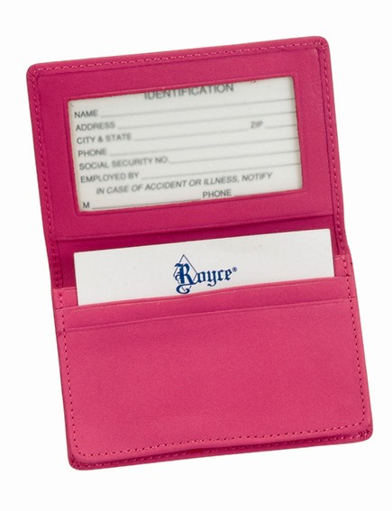 Royce Leather 405-WB-5 Deluxe Card Holder - Wildberry