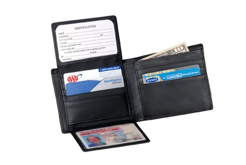 Royce Leather 109A-BLACK-5 Euro Commuter Wallet - Black