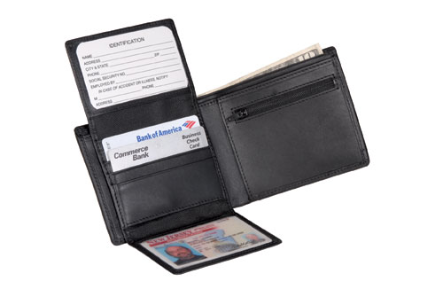 Royce Leather 109-BLACK-5 Commuter Wallet - Black