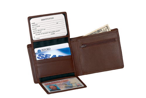 Royce Leather 109-COCO-5 Commuter Wallet - Coco