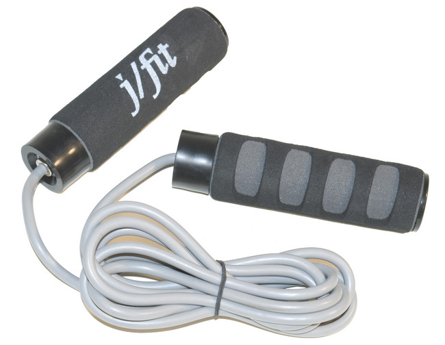 J Fit 20-2738 Cushioned Jump Rope - Grey