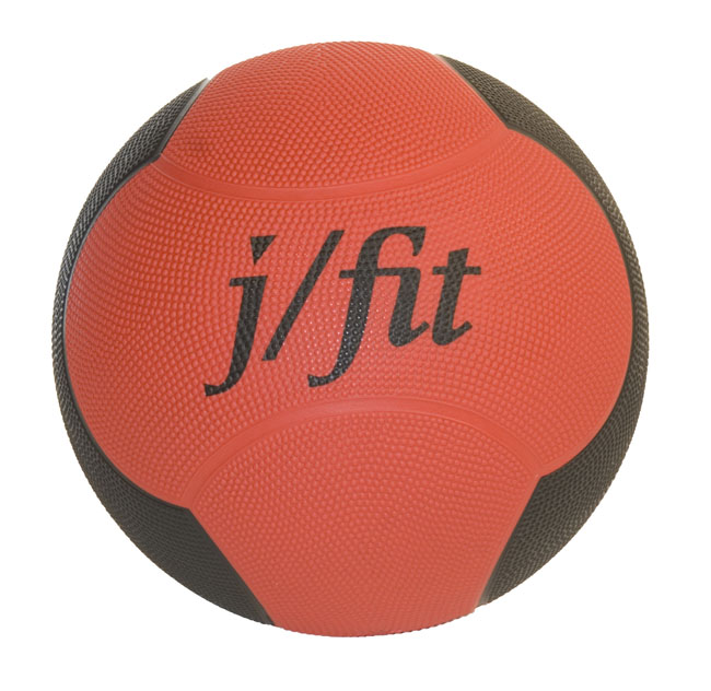 J Fit 20-0004 Premium Med Ball 4lbs - Red-Black