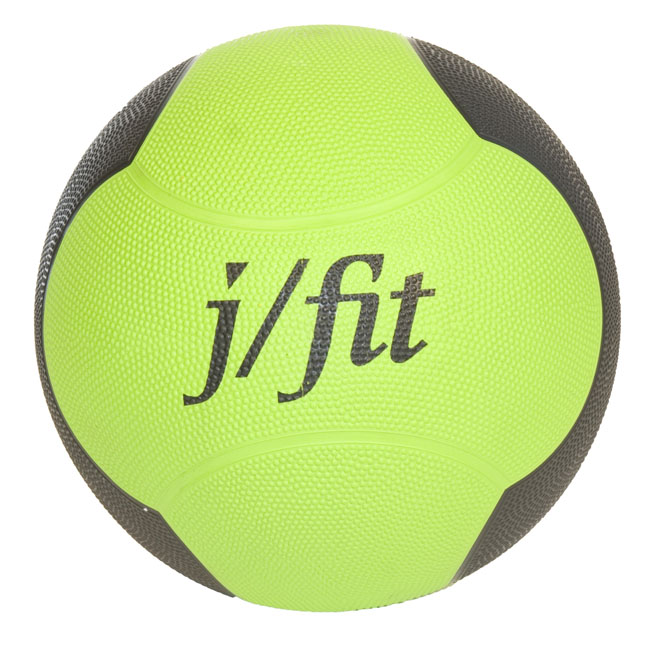 J Fit 20-0006 Premium Med Ball 6lbs - Yellow-Black