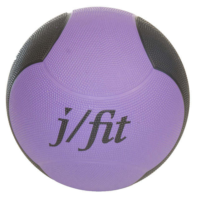 J Fit 20-0010 Premium Med Ball 10lbs - Purple-black