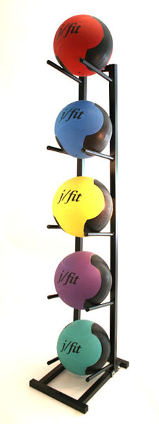 J Fit 10-0100 Medicine Ball Rack - Black
