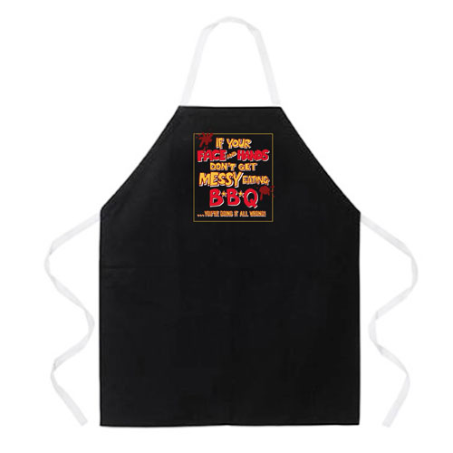 L.A. Imprints 2186 Messy Eating BBQ Apron