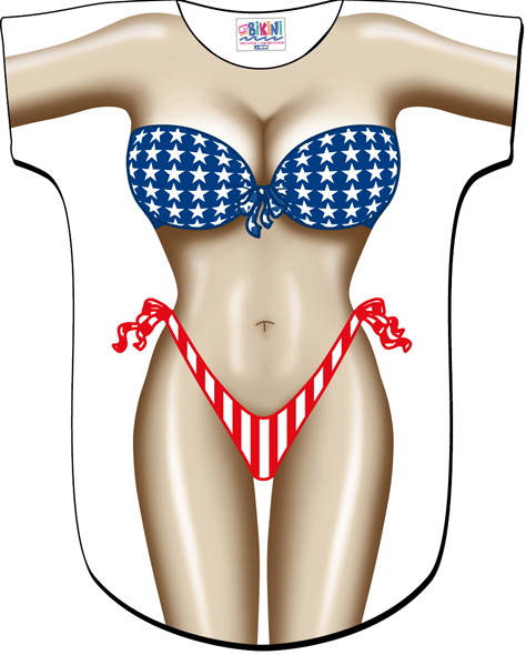 L.A. Imprints 4523 Stars / Stripes Swimsuit Cover Up