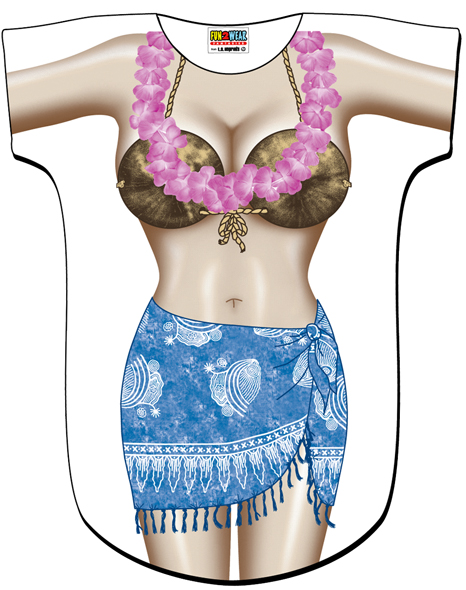 L.A. Imprints 4533 Blue Sarong Swimsuit Cover Up