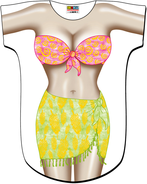 L.A. Imprints 4537 Tropical Girl Swimsuit Cover Up