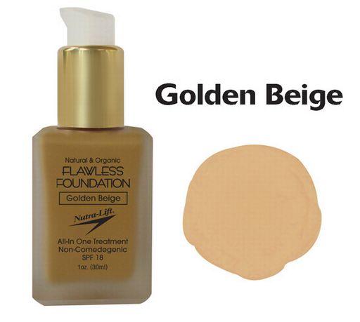 Nutra-Lift 676896000686 Golden Beige Flawless Foundation NTR129