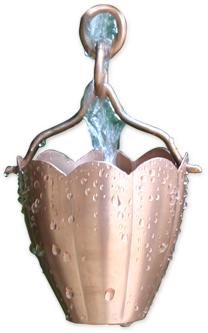 Patina Products R276 Flower Cup Rain Chain PTPR054
