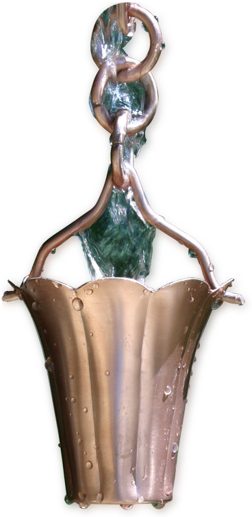 Patina Products R277 Fluted Cup Rain Chain