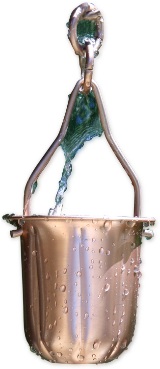 Patina Products R278 Copper Pot Rain Chain
