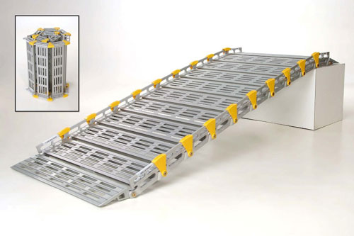 Roll-A-Ramp A12606A19 Wide Ramp  7 Ft Long x 26 Inch