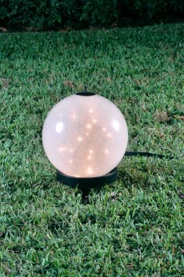 Starlight Lanterns LSPS Luna Small Lantern on Petite Stand with Sparkle Globe