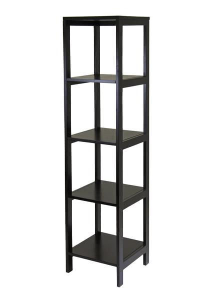 Winsome 92615 5-Tier Modular Hailey Tower Shelf - Espresso