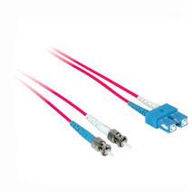 Cables To Go 37316 2m ST-SC DUPLEX 50-125 MULTIMODE FIBER PATCH CABLE - RED CTG065