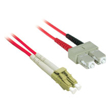 Cables To Go 37238 3m LC-SC DUPLEX 62.5-125 MULTIMODE FIBER PATCH CABLE - RED