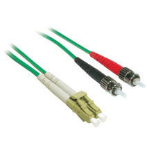 Cables To Go 37214 5m LC-ST DUPLEX 62.5-125 MULTIMODE FIBER PATCH CABLE - GREEN