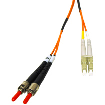Cables To Go 37947 3m LC-ST PLENUM-RATED DUPLEX 62.5-125 MULTIMODE FIBER PATCH CABLE