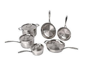 BergHOFF International 2213766A Earthchef by BergHOFF 10 pc Professional Copper Clad cookware set
