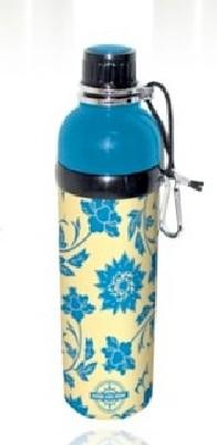 Good Life Gear SF6013 FLO 24 oz. BPA Free Water Bottle - Blue Floral GODLG012