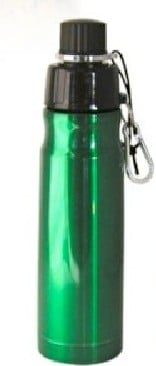 Good Life Gear Sf6019 Grn 16 Oz Bpa Free Double Wall Vacuum Insulated Water Bottle Green image