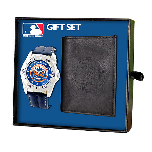 Game Time MLBWWGNYM New York Mets Watch and Wallet Gift Set    