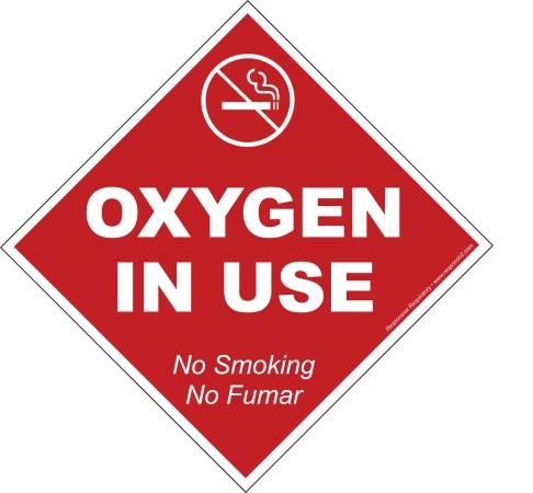 Responsive Respiratory No Smoking Static Cling- ENG-SP PK 25 - 180-4205 RSSRS032