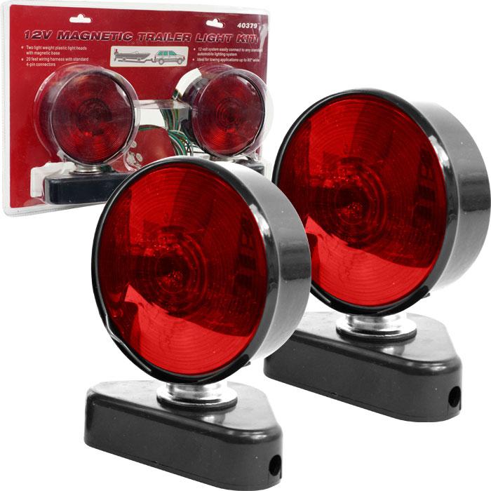click for Full Info on this Trademark Tools 12V Magnetic Trailer Light Kit