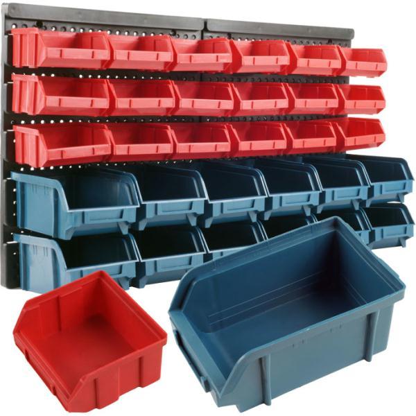 Trademark Tools 30 Bin Wall Mounted Parts Rack