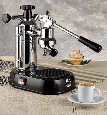 La Pavoni Europiccola 8-Cup Espresso Machine with Black Base