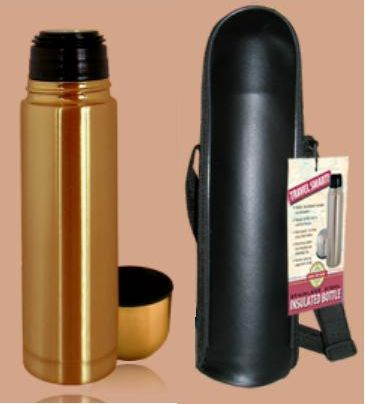 Good Life Gear SF1005 BRZ 16 oz. Thermal Hot-Cold Bottle With Black Carrying Case - Bronze GODLG043