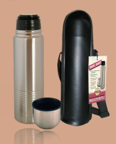 Good Life Gear SF1005 SS 16 oz. Thermal Hot-Cold Bottle With Black Carrying Case - Stainless Steel