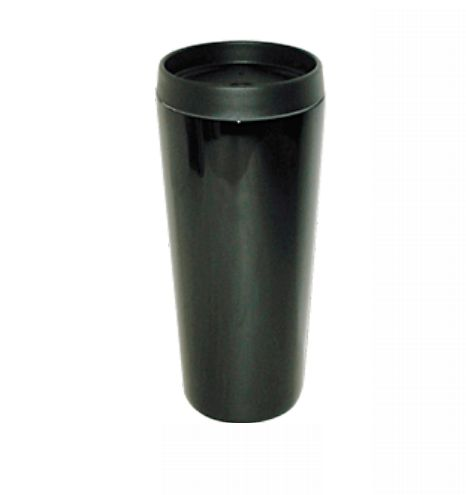 Good Life Gear SF3007 BLK 16 oz. Hot-Cold Travel Mug With Screw On Lid - Black GODLG047