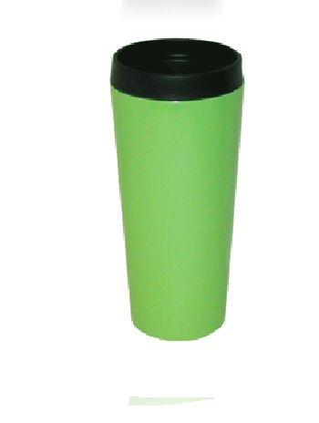Good Life Gear SF3007 GRN 16 oz. Hot-Cold Travel Mug With Screw On Lid - Green