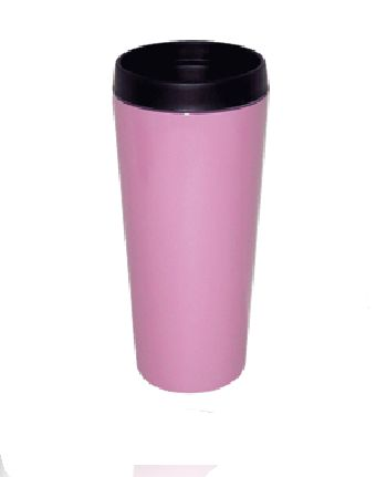 Good Life Gear SF3007 PNK 16 oz. Hot-Cold Travel Mug With Screw On Lid - Pink GODLG049