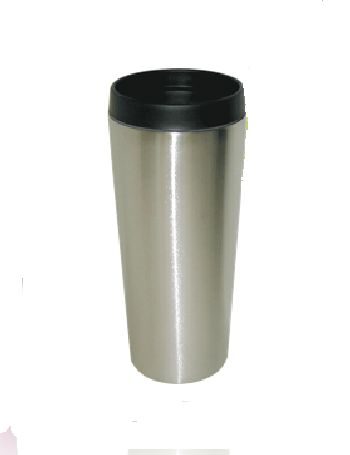 Good Life Gear SF3007 SIL 16 oz. Hot-Cold Travel Mug With Screw On Lid - Silver