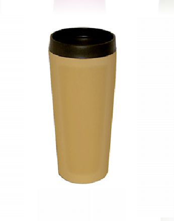 Good Life Gear SF3007 TAN 16 oz. Hot-Cold Travel Mug With Screw On Lid - Tan GODLG051
